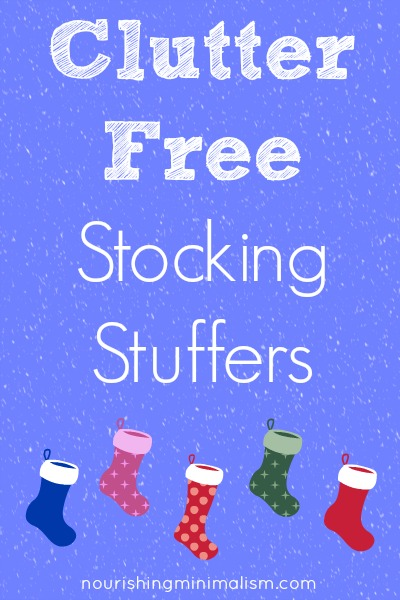 Clutter Free Stocking Stuffers
