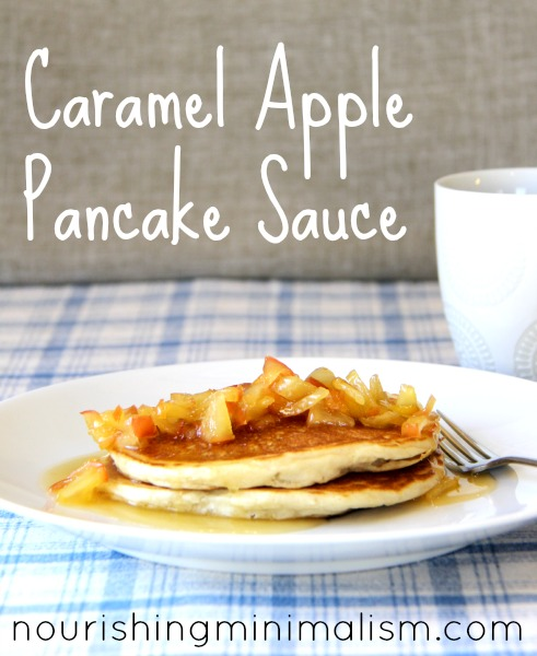 Caramel Apple Pancake Sauce