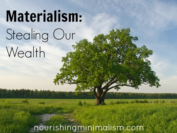 Materialism Stealing Our Wealth