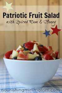 Patriotic Fruit Salad with Spiced Rum and Honey