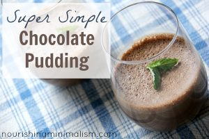 Chocolate Pudding, A Simple Dessert
