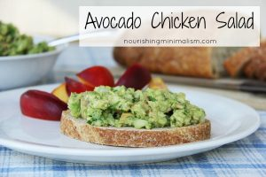 Avocado Chicken Salad, such a delicious and simple summer meal!
