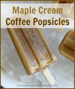 Maple Cream Coffee Popsicles