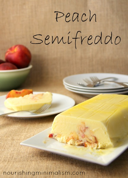 Peach Semifreddo. A delightfully simple summer dessert.