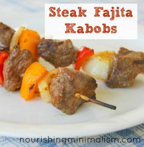 Easy Steak Fajita Kabobs