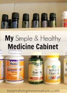 My Simple and Healthy Medicine Cabinet