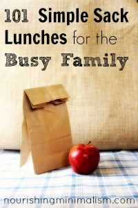101 Simple Sack Lunches for the Busy Family