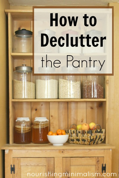 How to Declutter the Pantry
