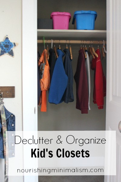 Declutter and Organize Kid's Closets