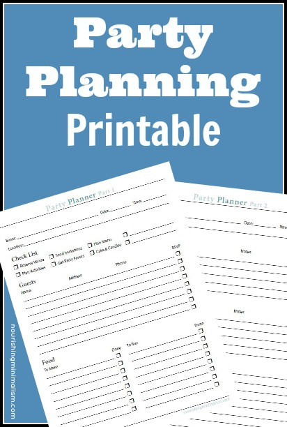 Free Party Planning Printable 1