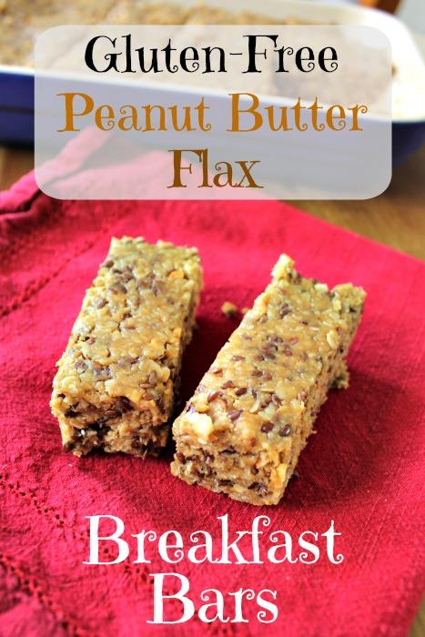 Gluten Free Peanut Butter Flax Breakfast Bars