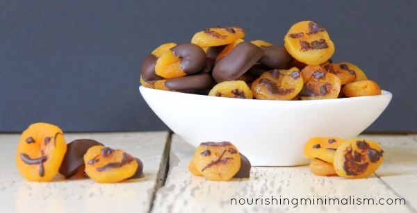 Chocolate Painted Halloween Apricots