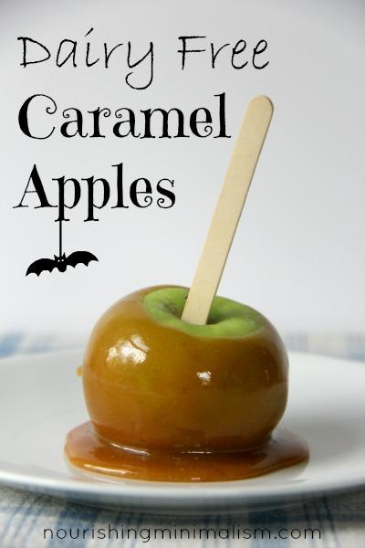 Dairy Free Caramel Apples