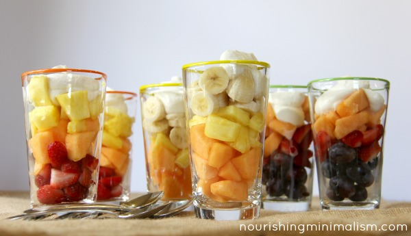 Harvest Parfaits! A Simple Fruit Halloween Treat.