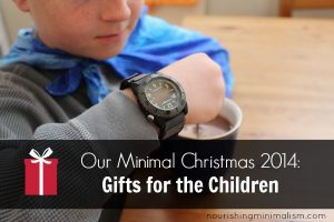 Our Minimal Christmas 2014: Gifts for the Children