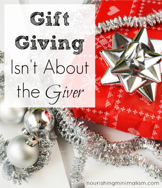 Gifts are intended to be a blessing to the receiver. Do our motives align with that?