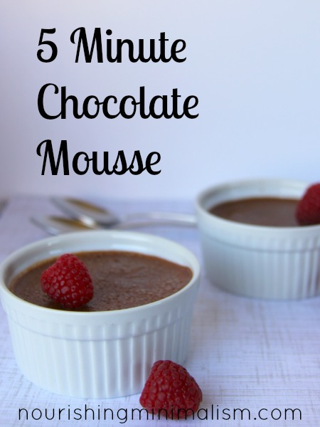 5 Minute Chocolate Mousse with Coffee
