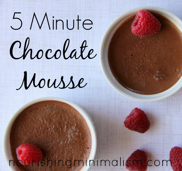 5 Minute Chocolate Mousse