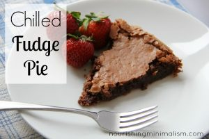 Gluten Free Chilled Fudge Pie