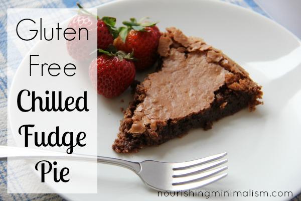 Gluten Free Chilled Fudge Pie