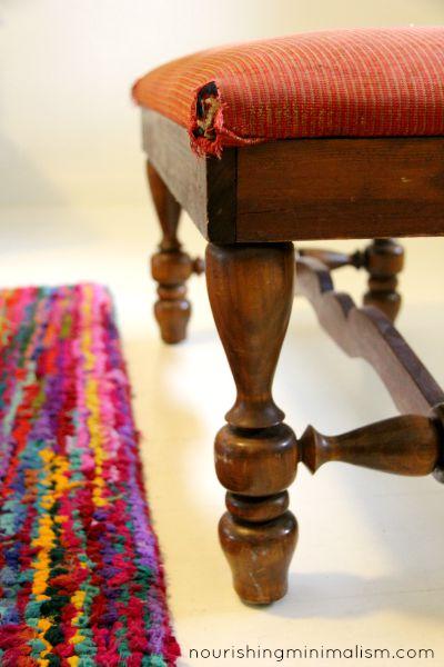 Minimalist Living Room Tour, a sentimental bench