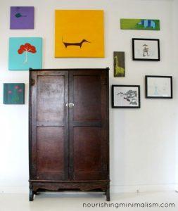 Minimalist Living Room Tour - TV cabinet