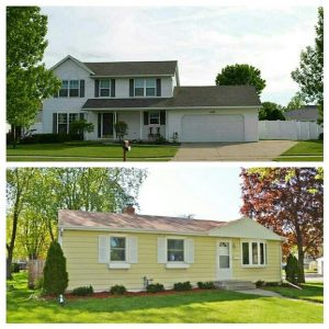 A story of downsizing from a 2115 sq. ft. home to a 1300 sq. ft. home