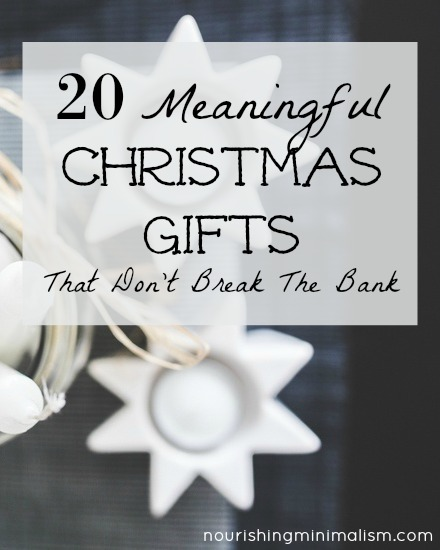 Give inspired gifts this year: gifts that will continue to bless people all year long.