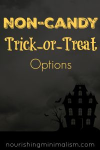 Non-Candy Trick-or-Treat Options