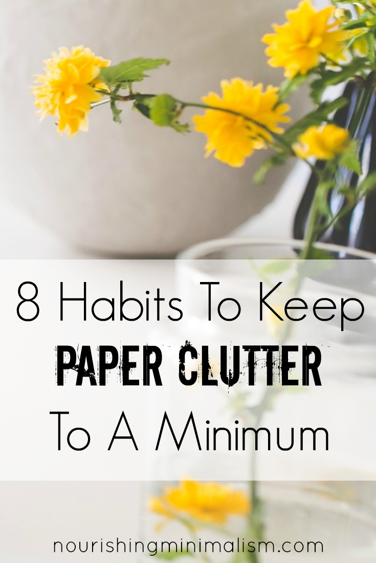 We have this idea that we are supposed to keep every single statement, warranty, instruction manual, receipt and note from school. Thankfully, we don't. And here are 8 actionable things that you can shift to avoid paper piles crowding your space.