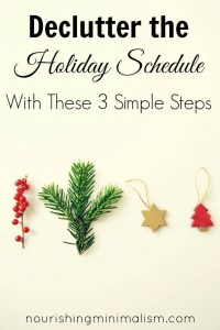 Declutter the Holiday Schedule With These 3 Simple Steps