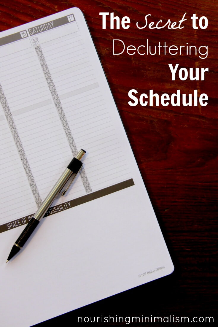 The Secret to Decluttering Your Schedule 1