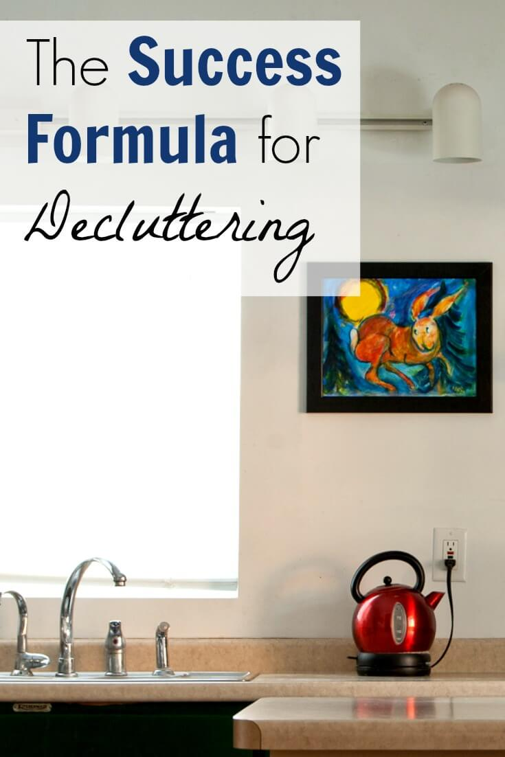 The Success Formula for Decluttering