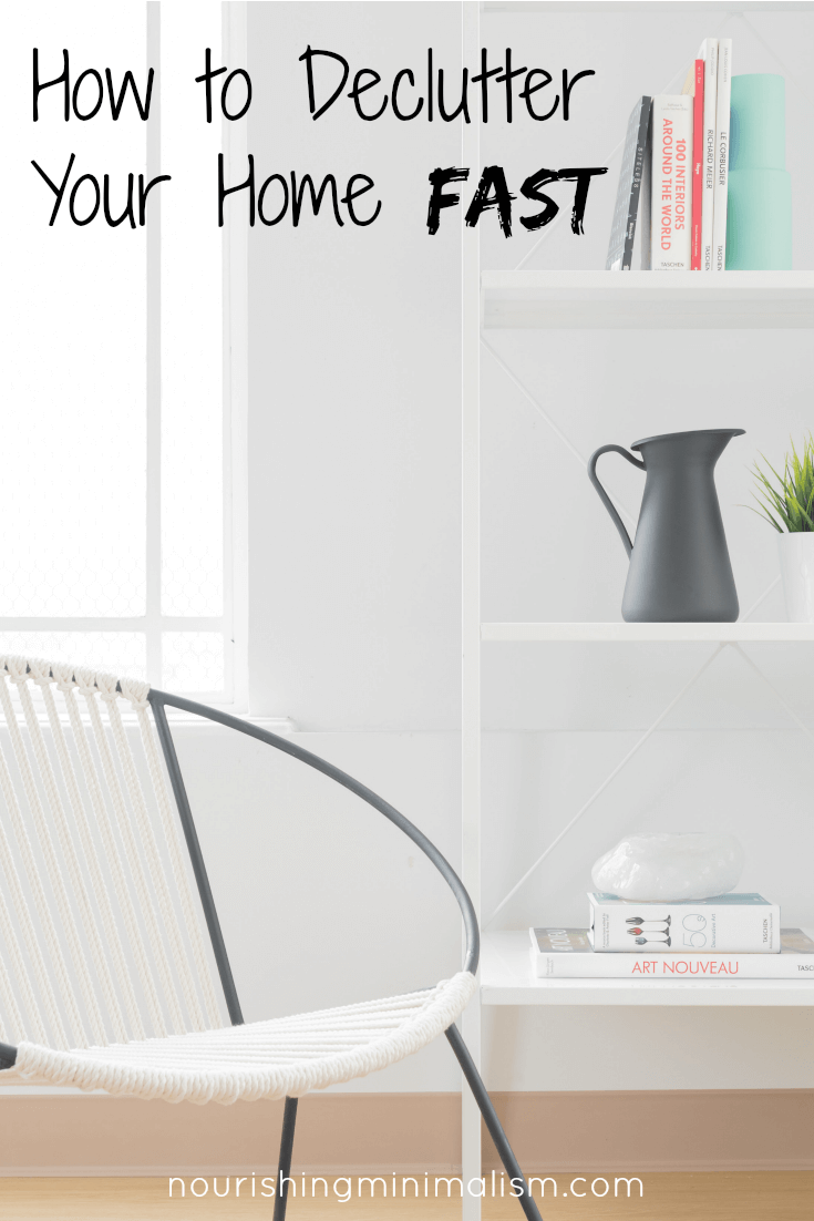 How to declutter your home fast nourishing minimalism free decluttering chart sciox Images
