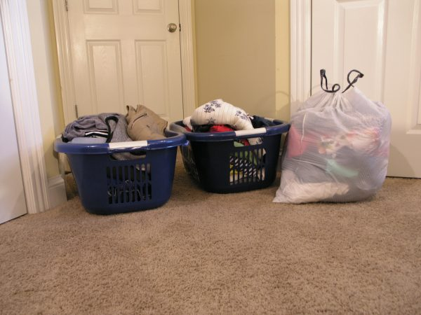 Baskets with Clothes