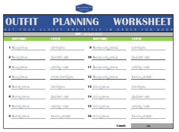 Planning Worksheet Example