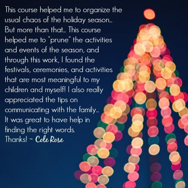 Simplify the Holidays Testimonial