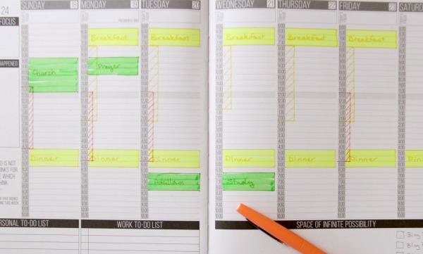 Brian's work schedule