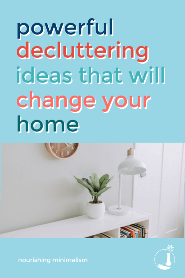 Are you sick and tired of looking around at the clutter all over your home? And want a drastic difference today? Here are six powerful ways to accomplish that change you've been longing for. #Declutter #Minimalism