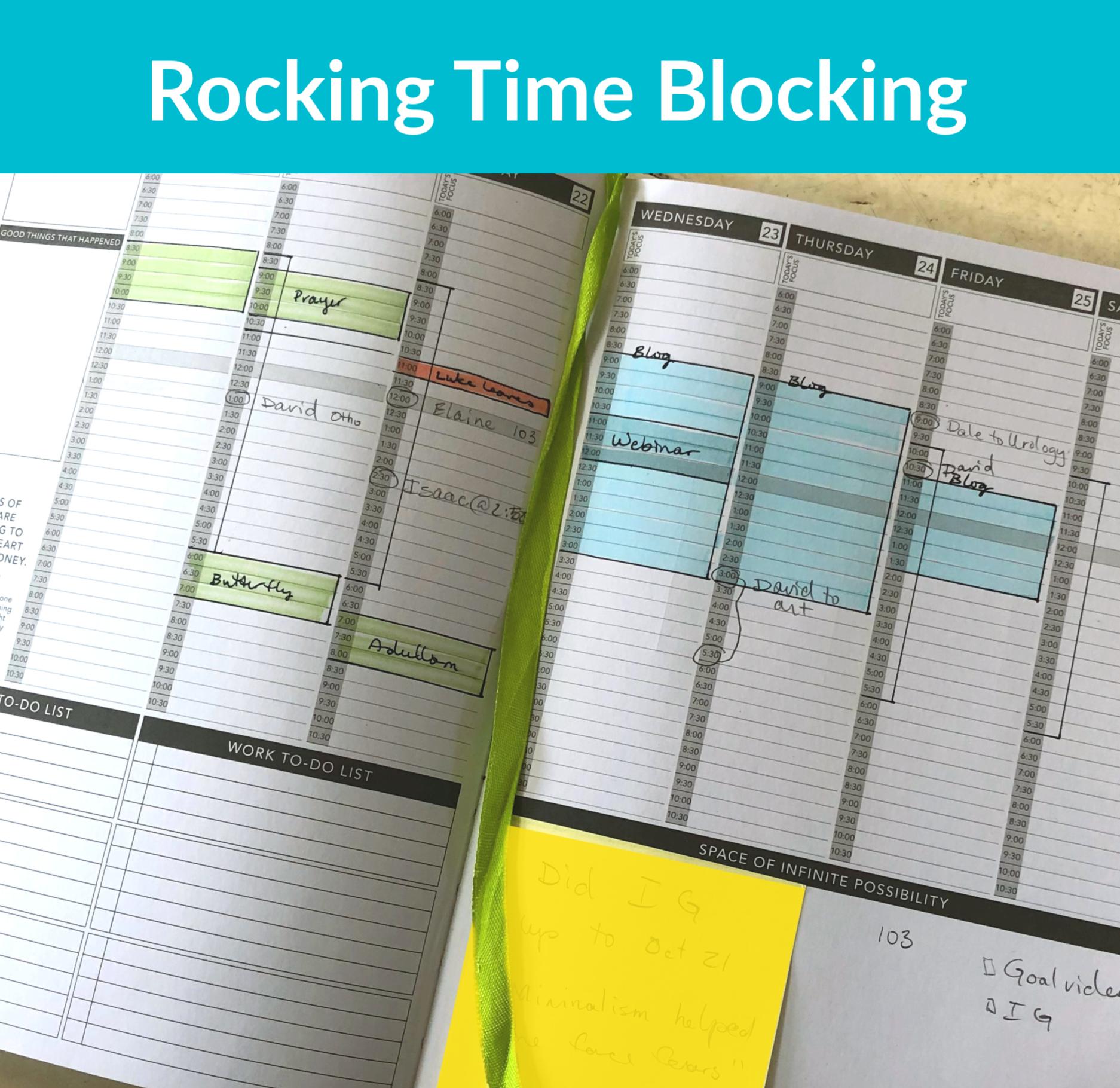 rocking time blocking