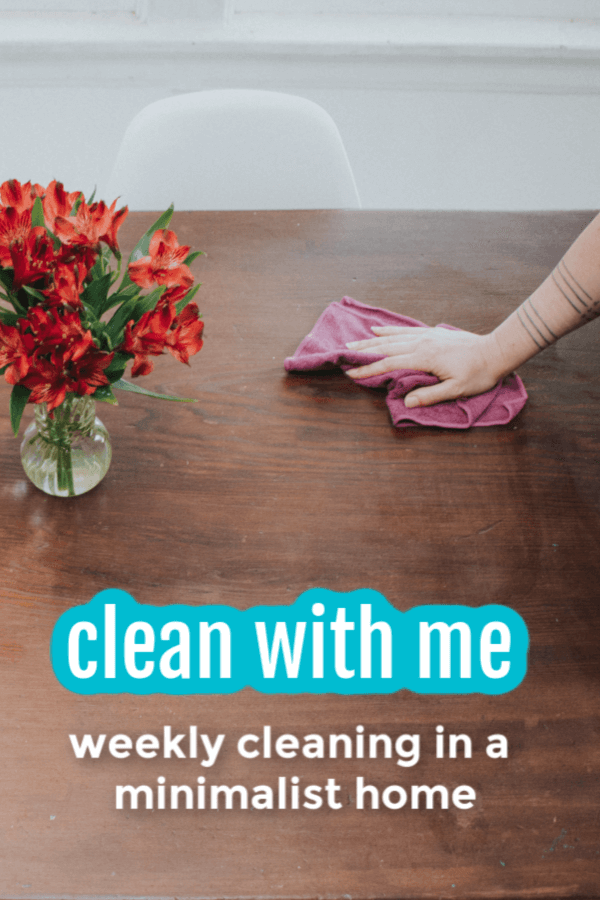 Want to see how minimalism makes a typical Saturday cleaning time easier? Having less means I don't have to spend as much time managing, moving, sorting, organizing, maintaining or cleaning stuff. #minimalism #cleaning #simplify #nourishingminimalism