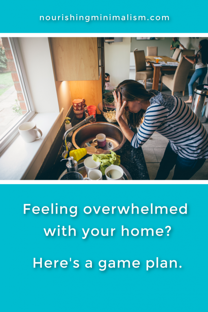 "Pulling myself out of the ""Slough of Despond"" was a struggle. But getting my home in order was a big part of that, the overwhelmed feeling decreased, one little bit at a time. Here are my fall-back steps every time I feel overwhelmed."