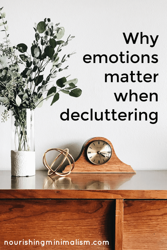 The things we surround ourselves with have an impact on our emotional well-being.   As you sort through your items, keep the things that have good, positive feelings and let go of the items that drag you down. #decluttering